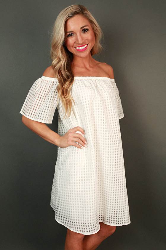 Summer Days Off Shoulder Dress