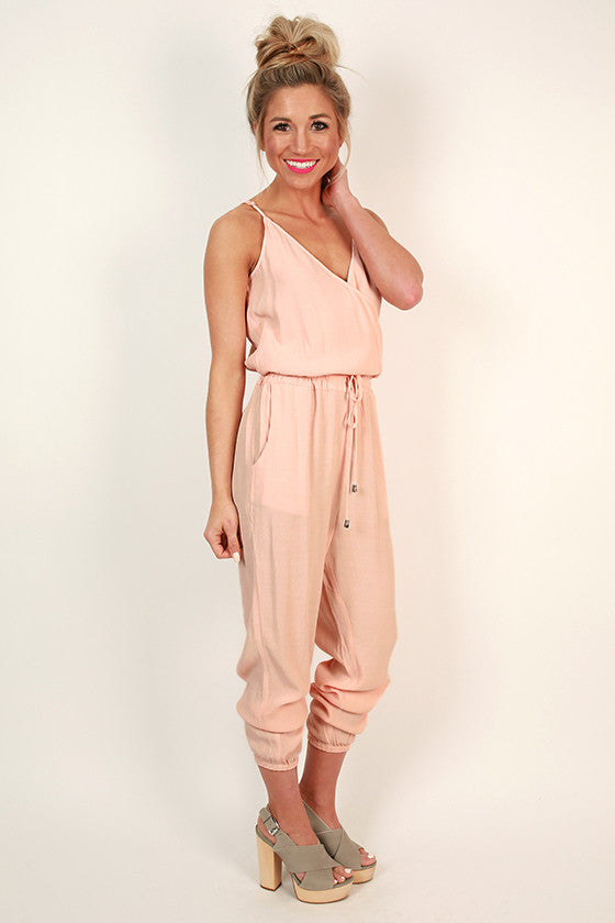 Smitten For Soho Jumpsuit in Rose Quartz