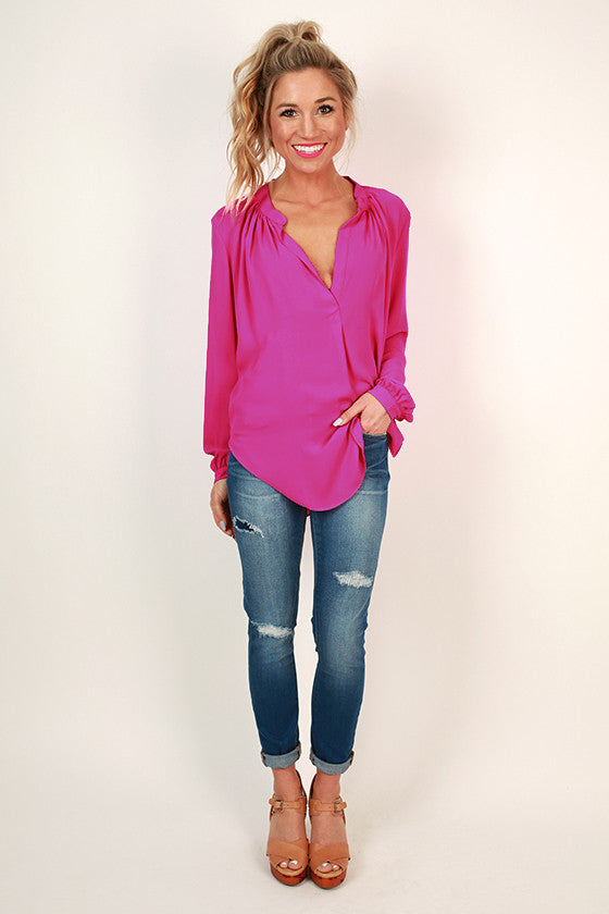 Juniper Darling Top in Deep Fuchsia