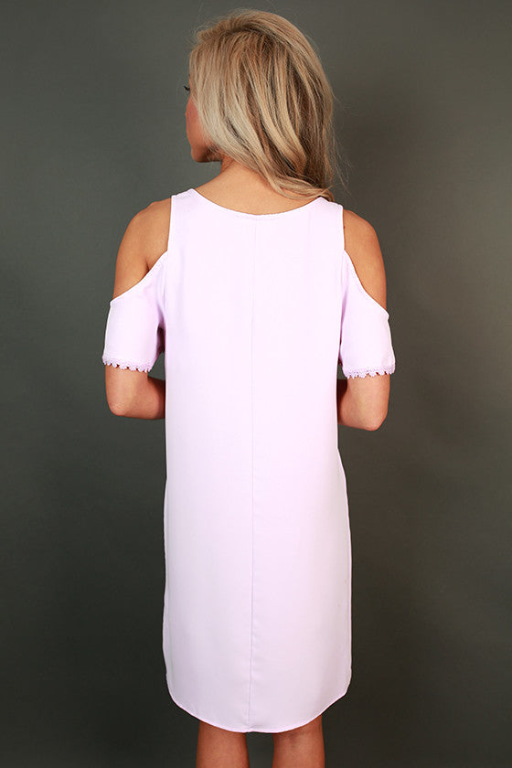 Tea & Twirls Shift Dress in Lavender