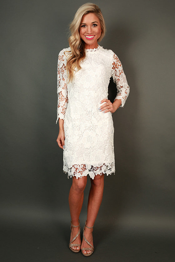 Plaza Brunch Crochet Dress