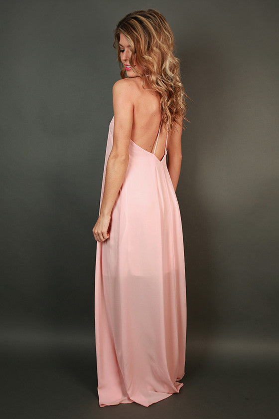 Hey Soul Sister Maxi Dress in Light Peach