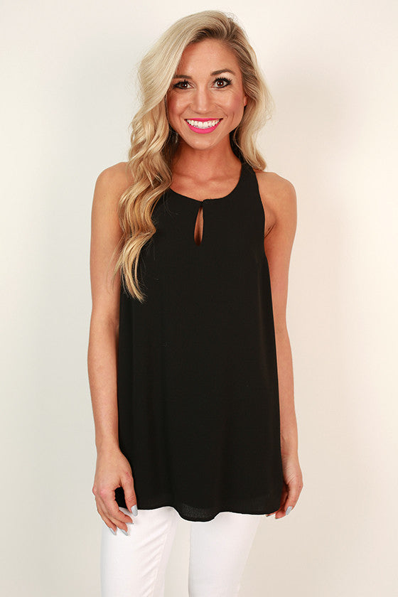 Chic in the City Shift Tank In Black