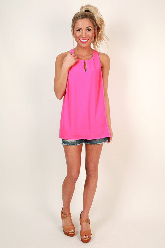 Chic in the City Shift Tank In Fuchsia