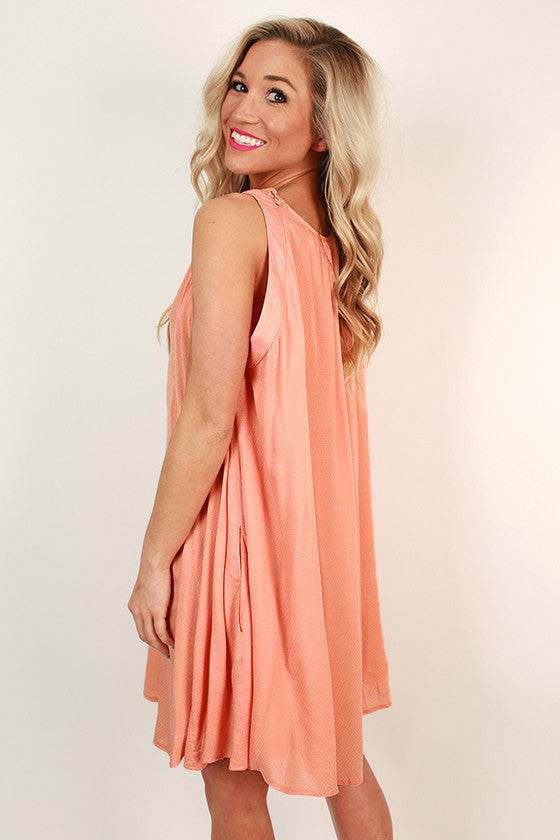 Shopping for Sweets Shift Dress in Peach Echo