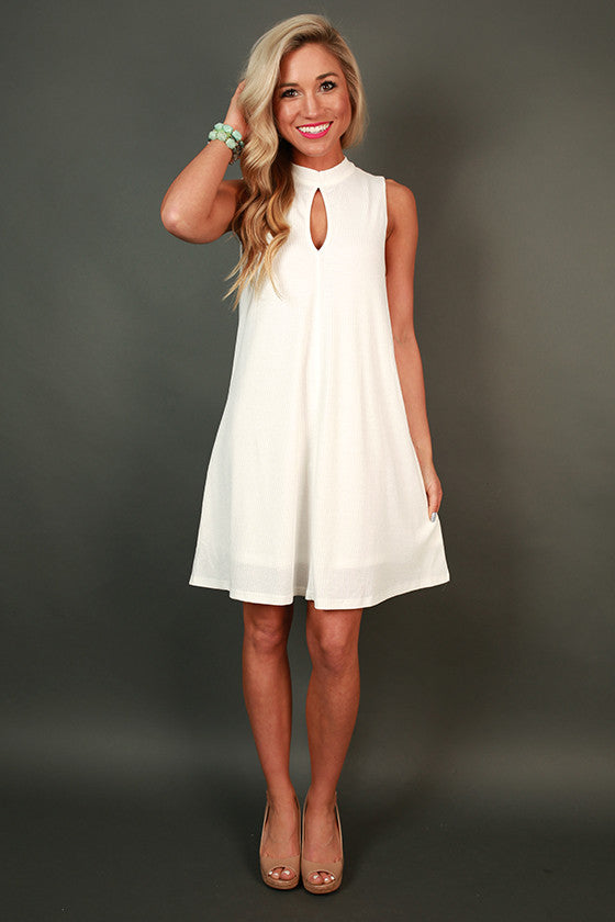Fashion Week Chic Shift Dress in White