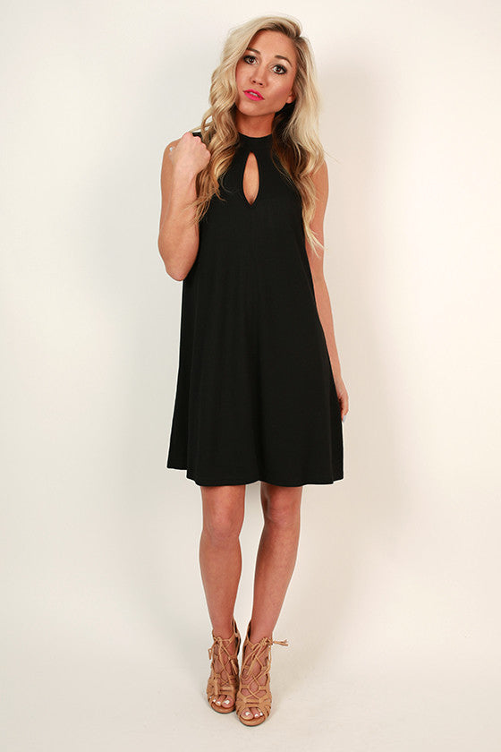 Fashion Week Chic Shift Dress in Black