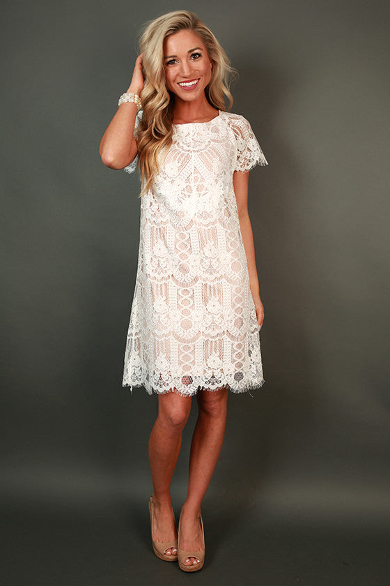 Vino & Lace Shift Dress