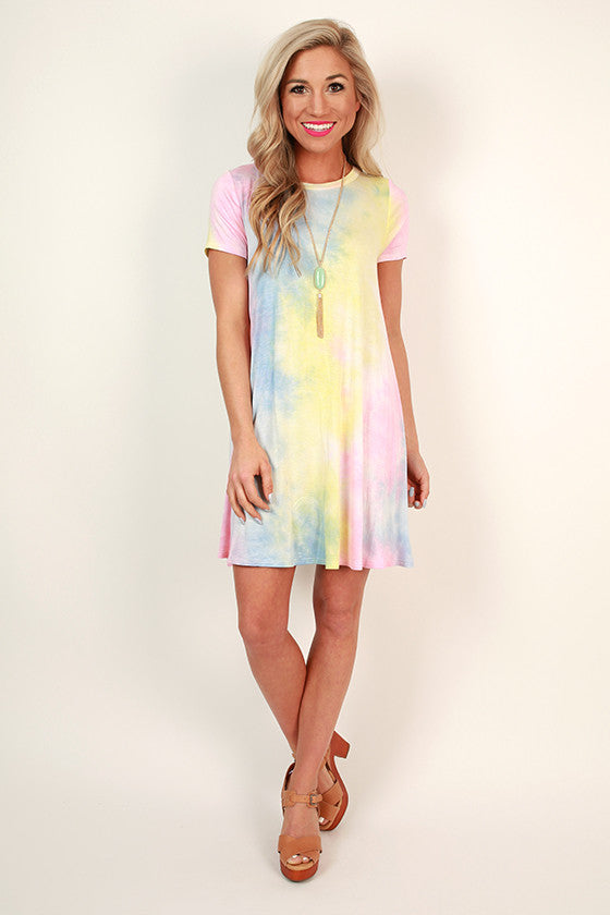 Cotton Candy Tie Dye Shift Dress