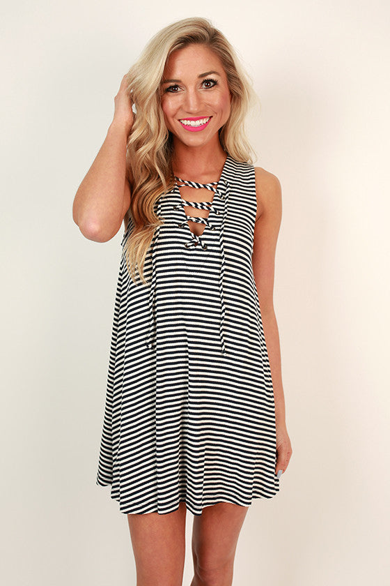 Yacht Club Sweetheart Stripe Dress