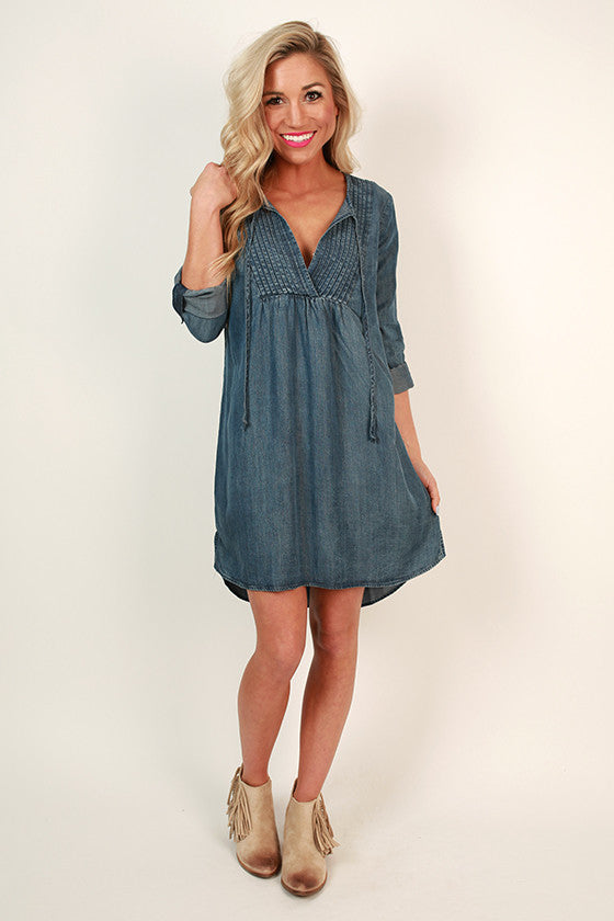 City Chic Chambray Shift Dress