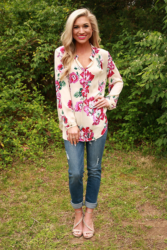 Juniper Darling Floral Snap Top