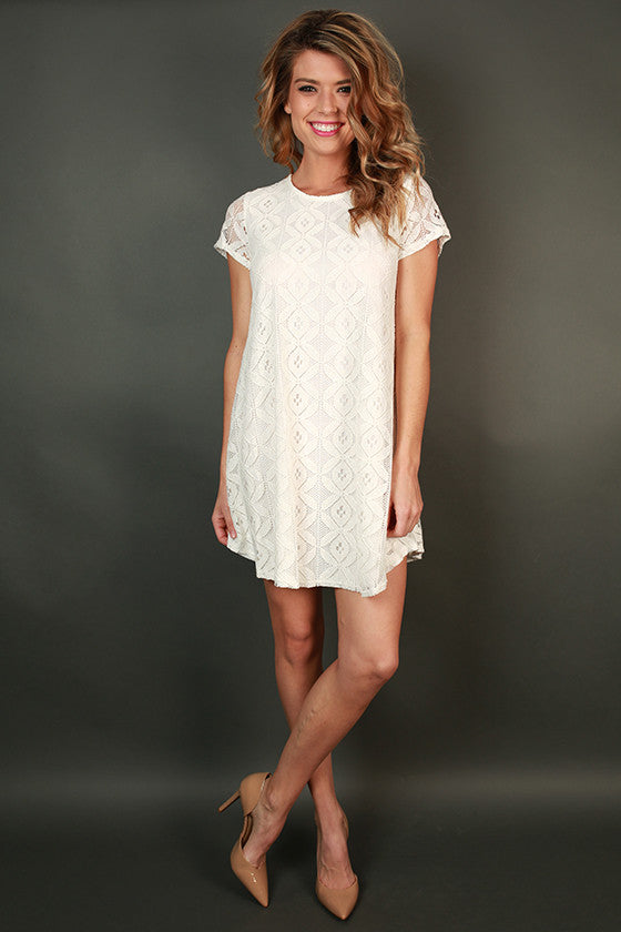 My Fair Lady Lace Shift Dress