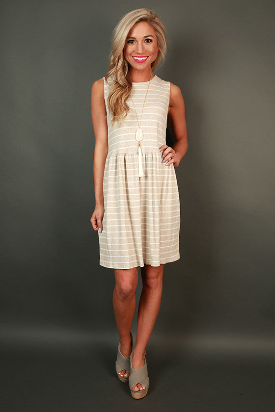 San Fran Sightseeing Stripe Shift Dress