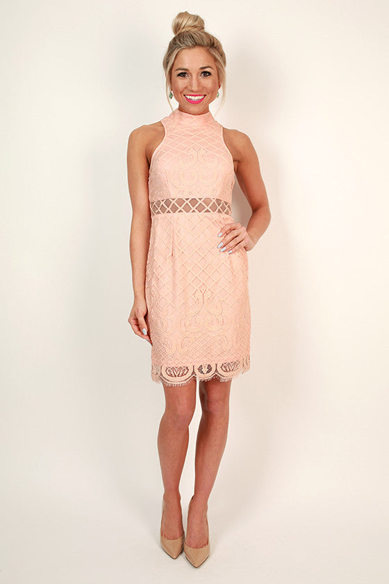 French Soiree Lace Dress
