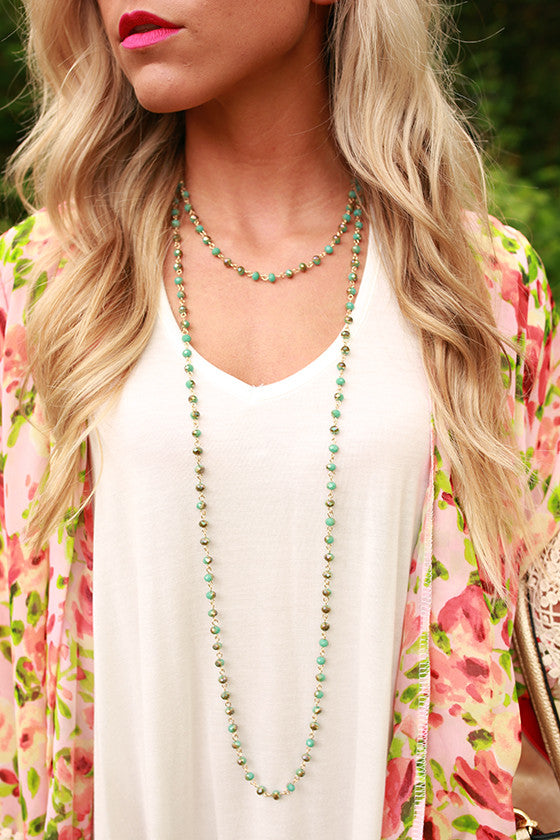 Always on Your Mind Necklace in Turquoise