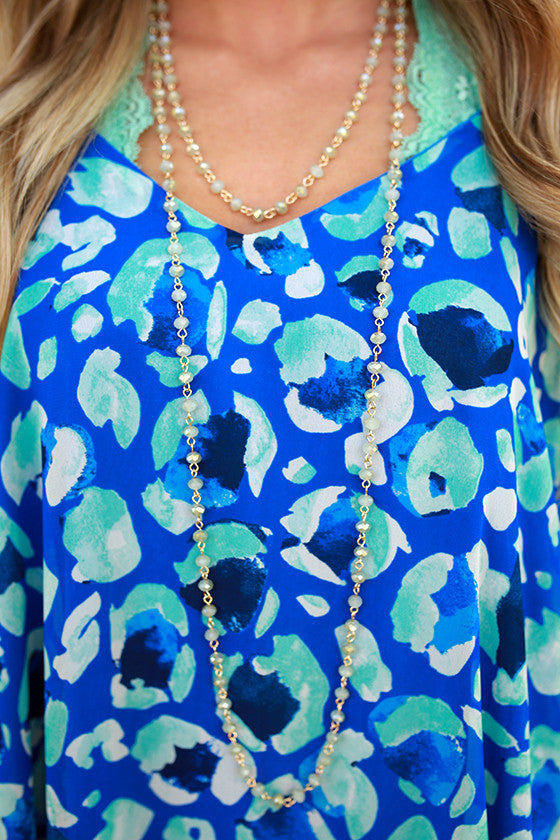 Always on Your Mind Necklace in Light Seafoam