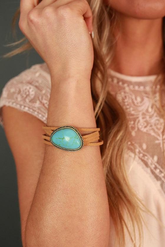 Wanderlust Stone Bracelet in Turquoise and Gold
