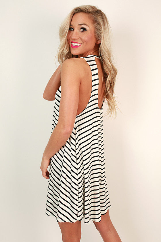Seaside Stripe Shift Dress