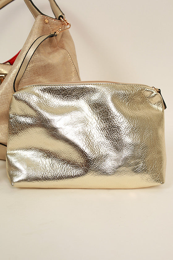 Make A Statement Tote in Gold
