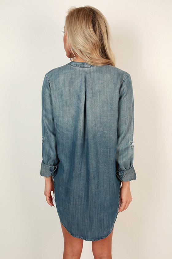 Delightful Days Chambray Top