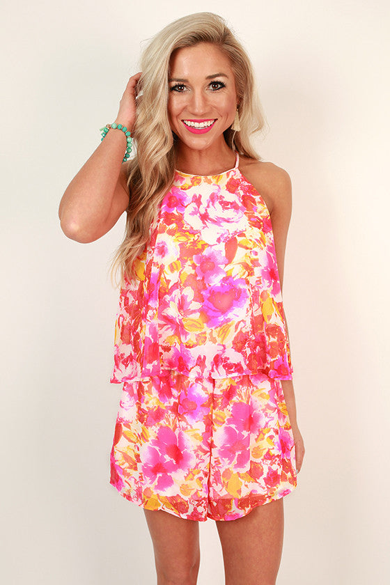 Bright and Beautiful Floral Romper