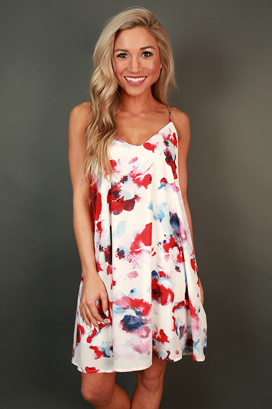 Enchanting Getaway Floral Shift Dress