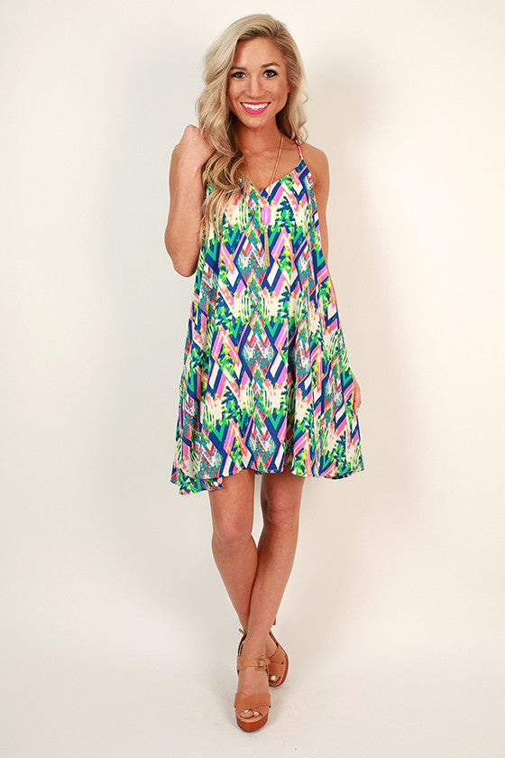 Make it Count Print Shift Dress
