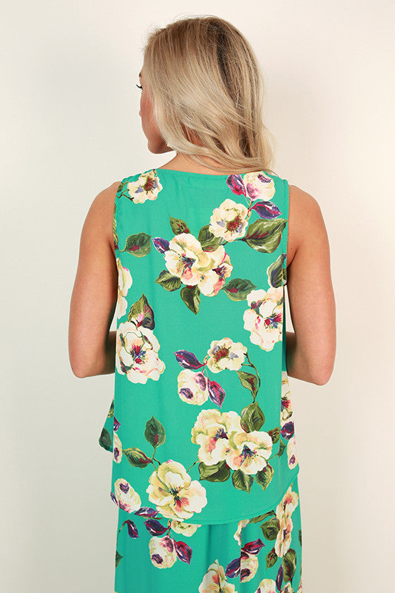Chateau Charm Floral Shift Tank