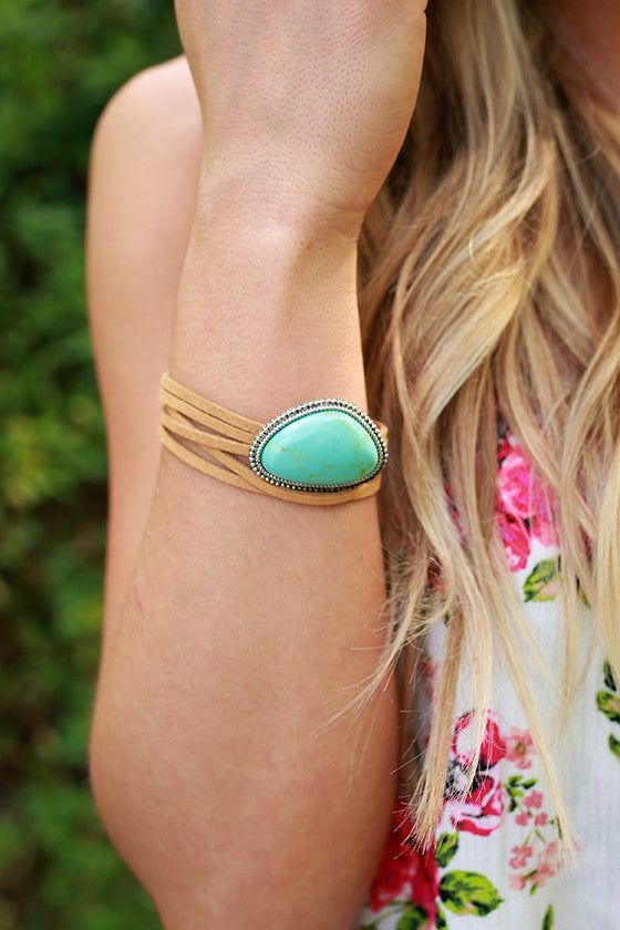 Wanderlust Stone Bracelet in Turquoise and Silver