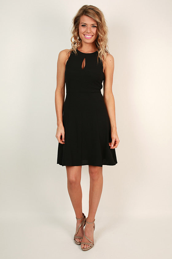 Look Good For Ya Fit & Flare Dress in Black