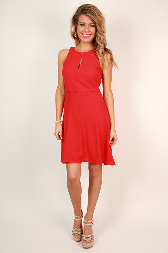 Look Good For Ya Fit & Flare Dress in Red