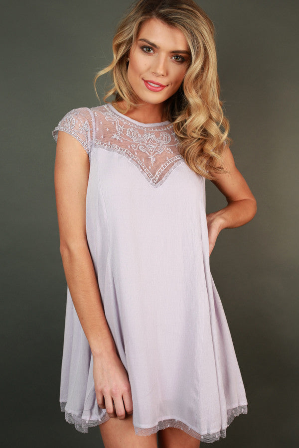 Romance in Venice Shift Dress in Lavender
