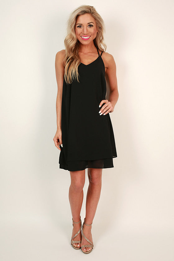 Bliss in Brighton Shift Dress in Black