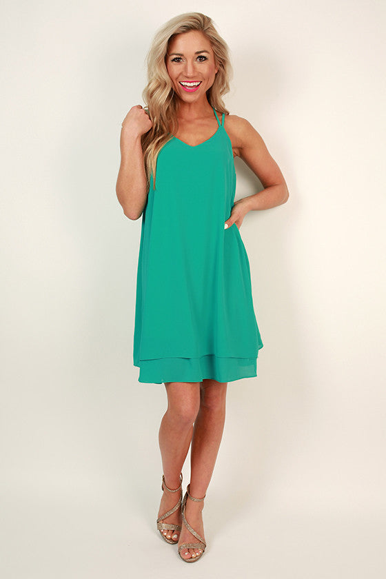 Bliss in Brighton Shift Dress in Ocean Wave