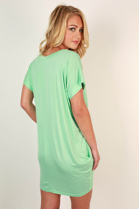 mint t shirt dress
