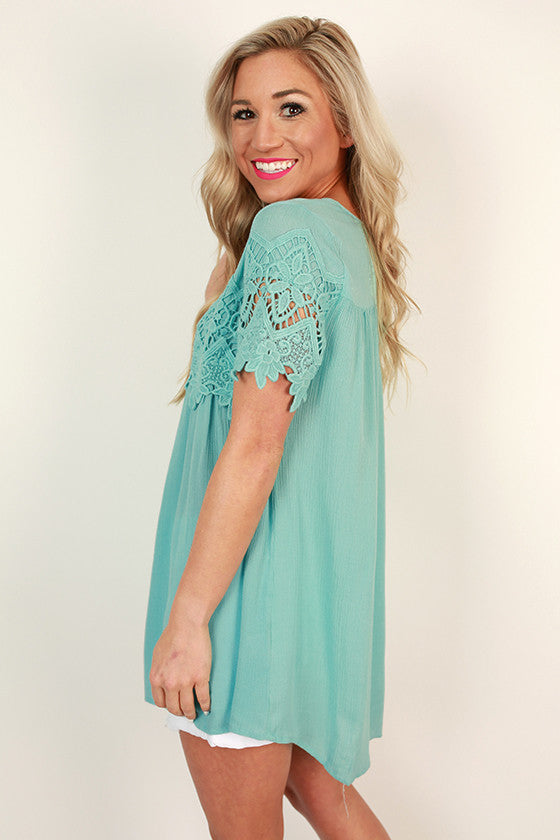Cali Crush Crochet Top in Limpet Shell