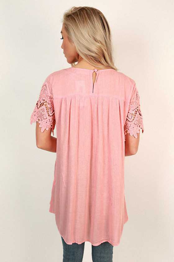 Cali Crush Crochet Top in Pink