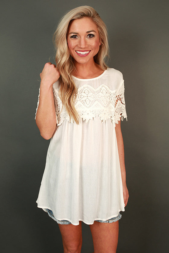 Cali Crush Crochet Top in White
