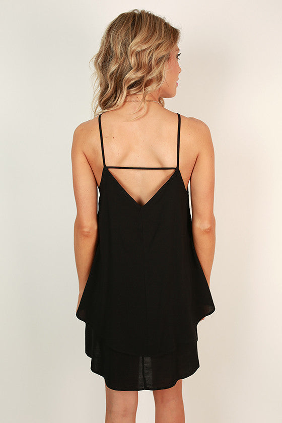 Yours Truly Tank Dress in Black