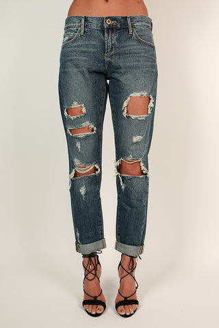 Palm Beach Distressed Boyfriend Jean