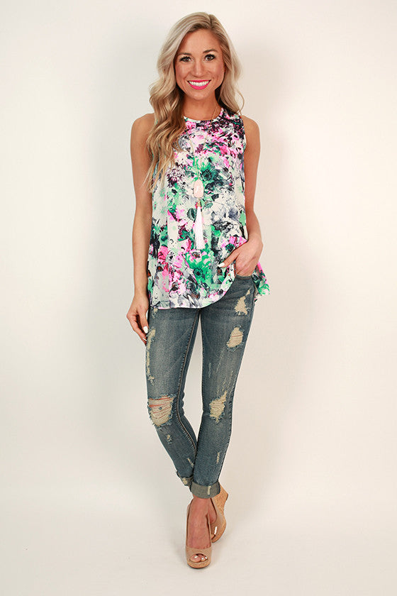 Nadia Daisy Shift Tank