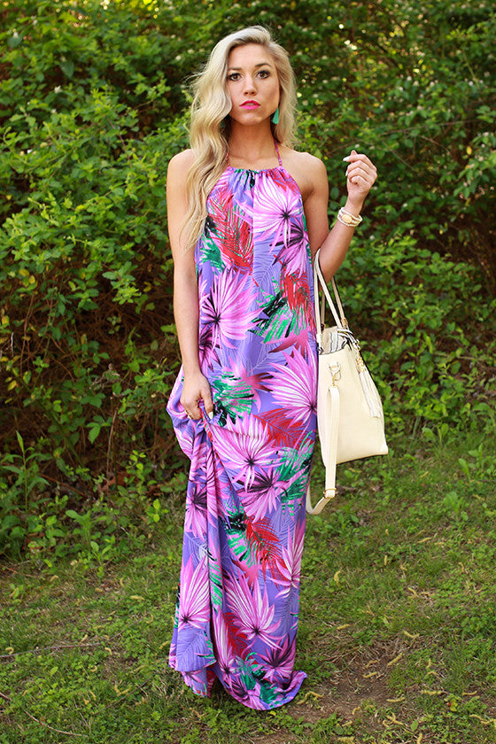Carly Honolulu Halter Maxi
