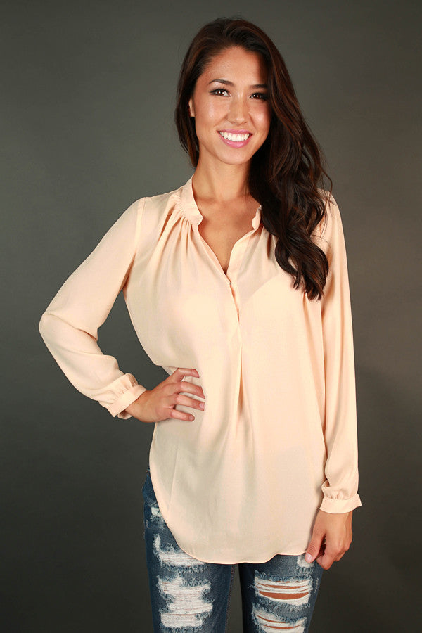 Juniper Darling Snap Top in Champagne