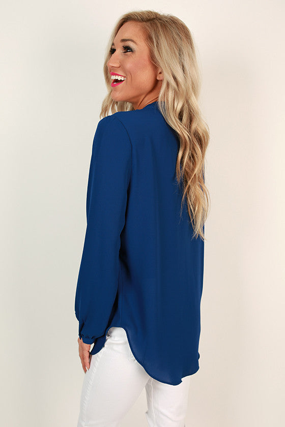 Juniper Darling Snap Top in Sapphire