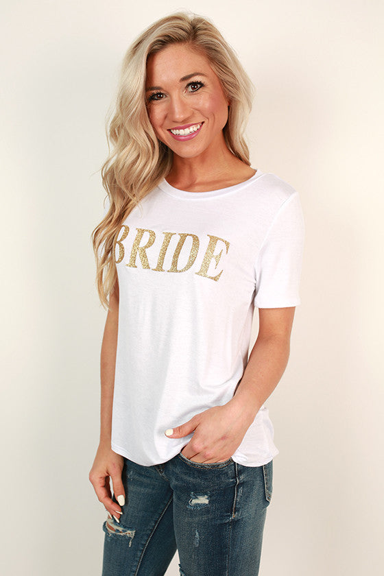 Beautiful Bride Glitter Tee