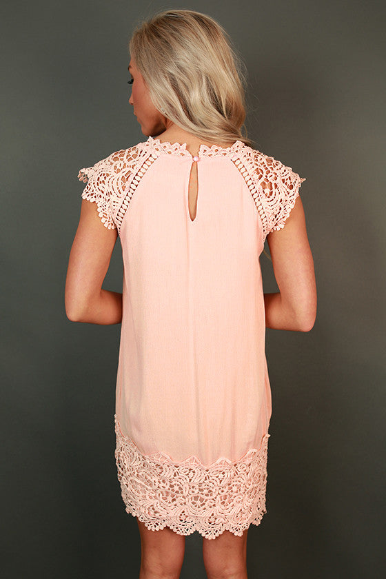 Livin' For The Weekend Crochet Dress in Rose Quartz