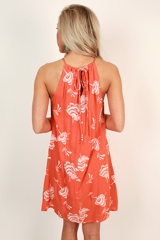 Bold & Beautiful Shift Dress in Coral