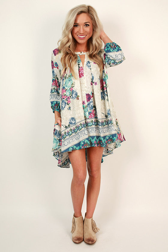 Floral Frenzy Shift Dress