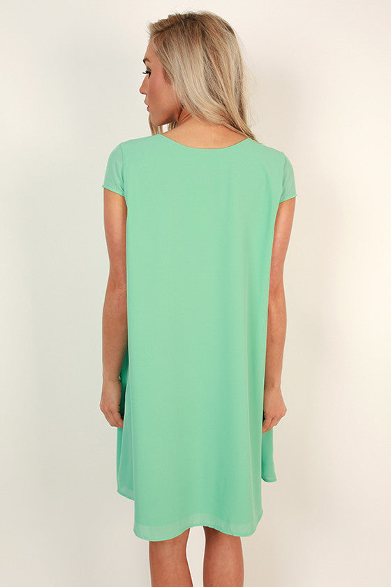 The Chic Life Shift Dress in Mint